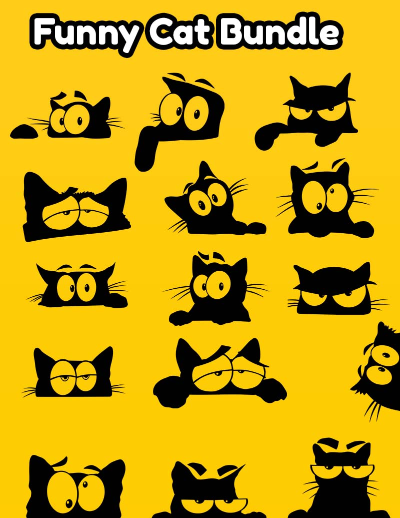 Funny Cat SVG Bundle